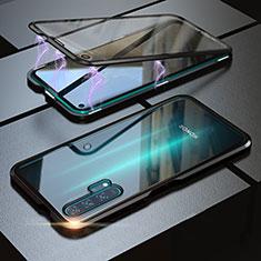 Coque Rebord Bumper Luxe Aluminum Metal Miroir 360 Degres Housse Etui M01 pour Huawei Honor 20 Pro Noir