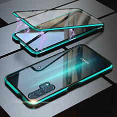 Coque Rebord Bumper Luxe Aluminum Metal Miroir 360 Degres Housse Etui M01 pour Huawei Honor 20 Pro Vert