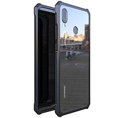 Coque Rebord Bumper Luxe Aluminum Metal Miroir 360 Degres Housse Etui M01 pour Huawei Nova 3e Noir