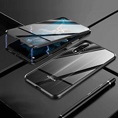 Coque Rebord Bumper Luxe Aluminum Metal Miroir 360 Degres Housse Etui M01 pour Huawei Nova 5T Noir