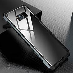 Coque Rebord Bumper Luxe Aluminum Metal Miroir 360 Degres Housse Etui M01 pour Samsung Galaxy S8 Plus Noir