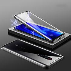 Coque Rebord Bumper Luxe Aluminum Metal Miroir 360 Degres Housse Etui M01 pour Xiaomi Mi 9T Noir