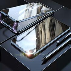 Coque Rebord Bumper Luxe Aluminum Metal Miroir 360 Degres Housse Etui M02 pour Apple iPhone XR Noir