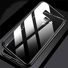 Coque Rebord Bumper Luxe Aluminum Metal Miroir 360 Degres Housse Etui M02 pour Samsung Galaxy Note 9 Noir