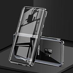 Coque Rebord Bumper Luxe Aluminum Metal Miroir 360 Degres Housse Etui M02 pour Samsung Galaxy S9 Noir