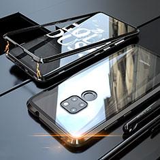 Coque Rebord Bumper Luxe Aluminum Metal Miroir 360 Degres Housse Etui M03 pour Huawei Mate 20 Noir