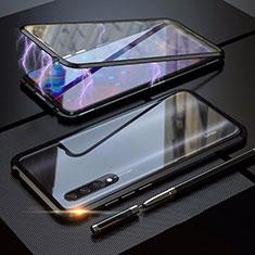 Coque Rebord Bumper Luxe Aluminum Metal Miroir 360 Degres Housse Etui M03 pour Xiaomi CC9e Noir