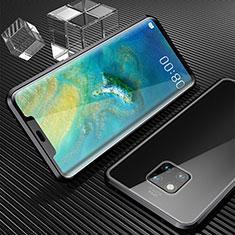 Coque Rebord Bumper Luxe Aluminum Metal Miroir 360 Degres Housse Etui M04 pour Huawei Mate 20 Pro Noir