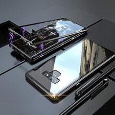 Coque Rebord Bumper Luxe Aluminum Metal Miroir 360 Degres Housse Etui M04 pour Samsung Galaxy Note 9 Noir