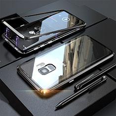 Coque Rebord Bumper Luxe Aluminum Metal Miroir 360 Degres Housse Etui M05 pour Samsung Galaxy S9 Noir
