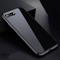 Coque Rebord Bumper Luxe Aluminum Metal Miroir 360 Degres Housse Etui pour Apple iPhone 7 Plus Noir