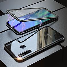 Coque Rebord Bumper Luxe Aluminum Metal Miroir 360 Degres Housse Etui pour Huawei Enjoy 9s Noir