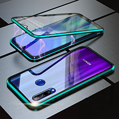 Coque Rebord Bumper Luxe Aluminum Metal Miroir 360 Degres Housse Etui pour Huawei Honor 20 Lite Vert