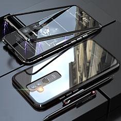 Coque Rebord Bumper Luxe Aluminum Metal Miroir 360 Degres Housse Etui pour Huawei Mate 20 Lite Noir