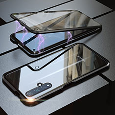 Coque Rebord Bumper Luxe Aluminum Metal Miroir 360 Degres Housse Etui pour Huawei Nova 5T Noir