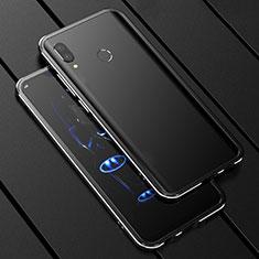 Coque Rebord Bumper Luxe Aluminum Metal Miroir 360 Degres Housse Etui pour Huawei P Smart+ Plus Noir