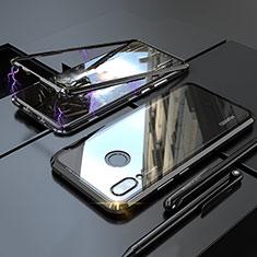Coque Rebord Bumper Luxe Aluminum Metal Miroir 360 Degres Housse Etui pour Huawei P20 Lite Noir