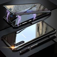 Coque Rebord Bumper Luxe Aluminum Metal Miroir 360 Degres Housse Etui pour Samsung Galaxy Note 10 5G Noir