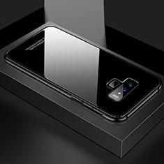 Coque Rebord Bumper Luxe Aluminum Metal Miroir 360 Degres Housse Etui pour Samsung Galaxy Note 9 Noir
