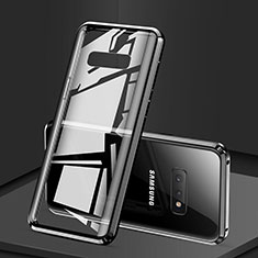 Coque Rebord Bumper Luxe Aluminum Metal Miroir 360 Degres Housse Etui pour Samsung Galaxy S10e Noir
