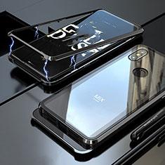 Coque Rebord Bumper Luxe Aluminum Metal Miroir 360 Degres Housse Etui pour Xiaomi Mi Mix 3 Noir