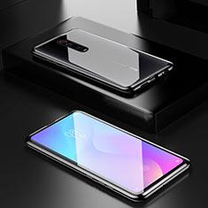 Coque Rebord Bumper Luxe Aluminum Metal Miroir 360 Degres Housse Etui pour Xiaomi Redmi K20 Noir