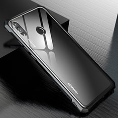 Coque Rebord Bumper Luxe Aluminum Metal Miroir Housse Etui M01 pour Huawei Honor V10 Lite Noir