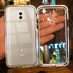 Coque Rebord Bumper Luxe Aluminum Metal Miroir Housse Etui M01 pour Huawei Mate 20 Lite Or