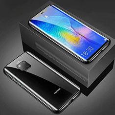 Coque Rebord Bumper Luxe Aluminum Metal Miroir Housse Etui M01 pour Huawei Mate 20 Pro Noir
