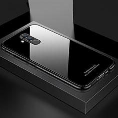 Coque Rebord Bumper Luxe Aluminum Metal Miroir Housse Etui M02 pour Huawei Mate 20 Lite Noir