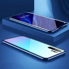 Coque Rebord Bumper Luxe Aluminum Metal Miroir Housse Etui M05 pour Huawei P30 Pro Bleu