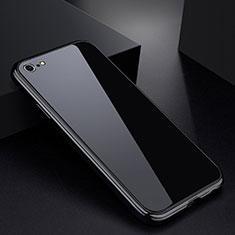 Coque Rebord Bumper Luxe Aluminum Metal Miroir Housse Etui pour Apple iPhone 6 Noir