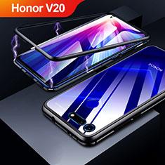 Coque Rebord Bumper Luxe Aluminum Metal Miroir Housse Etui pour Huawei Honor View 20 Noir