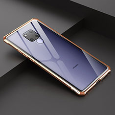 Coque Rebord Bumper Luxe Aluminum Metal Miroir Housse Etui pour Huawei Mate 20 X 5G Or