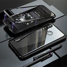 Coque Rebord Bumper Luxe Aluminum Metal Miroir Housse Etui pour Huawei Nova 4e Noir