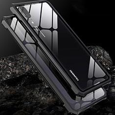 Coque Rebord Bumper Luxe Aluminum Metal Miroir Housse Etui pour Huawei P20 Noir