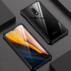 Coque Rebord Bumper Luxe Aluminum Metal Miroir Housse Etui pour OnePlus 7 Noir
