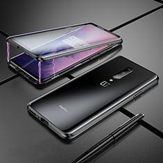 Coque Rebord Bumper Luxe Aluminum Metal Miroir Housse Etui pour OnePlus 7 Pro Noir