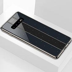 Coque Rebord Contour Silicone et Vitre Miroir Housse Etui A01 pour Samsung Galaxy S10 Noir