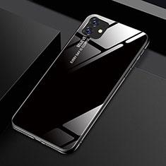 Coque Rebord Contour Silicone et Vitre Miroir Housse Etui Degrade Arc en Ciel H01 pour Apple iPhone 11 Noir