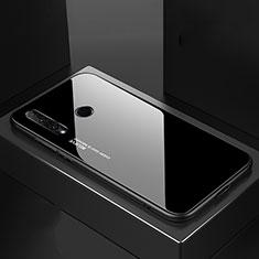 Coque Rebord Contour Silicone et Vitre Miroir Housse Etui Degrade Arc en Ciel H01 pour Huawei Honor 20 Lite Noir