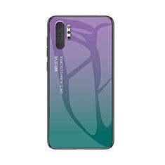 Coque Rebord Contour Silicone et Vitre Miroir Housse Etui Degrade Arc en Ciel M01 pour Samsung Galaxy Note 10 Plus 5G Mixte