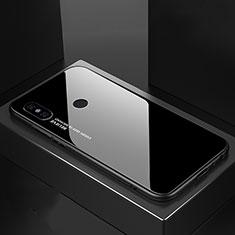 Coque Rebord Contour Silicone et Vitre Miroir Housse Etui Degrade Arc en Ciel M01 pour Xiaomi Mi A2 Noir