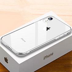 Coque Rebord Contour Silicone et Vitre Miroir Housse Etui Degrade Arc en Ciel pour Apple iPhone XR Clair