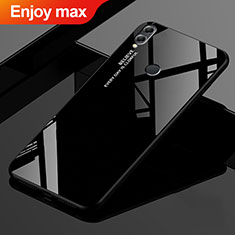Coque Rebord Contour Silicone et Vitre Miroir Housse Etui Degrade Arc en Ciel pour Huawei Enjoy Max Noir