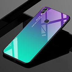 Coque Rebord Contour Silicone et Vitre Miroir Housse Etui Degrade Arc en Ciel pour Huawei Enjoy Max Vert