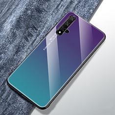 Coque Rebord Contour Silicone et Vitre Miroir Housse Etui Degrade Arc en Ciel pour Huawei Honor 20 Mixte