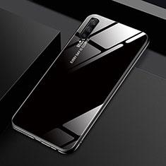 Coque Rebord Contour Silicone et Vitre Miroir Housse Etui Degrade Arc en Ciel pour Huawei Honor 9X Pro Noir
