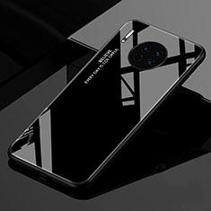 Coque Rebord Contour Silicone et Vitre Miroir Housse Etui Degrade Arc en Ciel pour Huawei Mate 30 Pro 5G Noir
