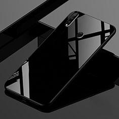 Coque Rebord Contour Silicone et Vitre Miroir Housse Etui Degrade Arc en Ciel pour Huawei P30 Lite Noir